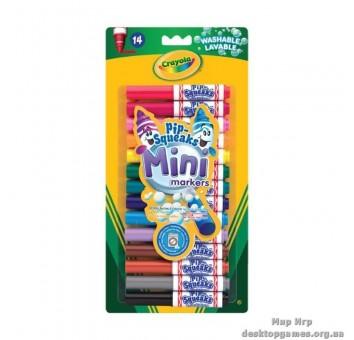 14 мини маркеров легко смываемых, 3+