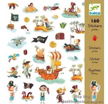 Набор наклеек 160 штук 'Пираты'
