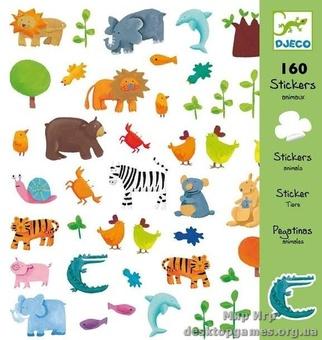 Набор наклеек 160 штук 'Животные'