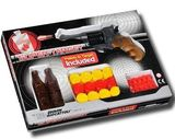 Набор - пистолет SUPERTARGET, 6-зарядный с пулями и разными мишенями - EDISON.
