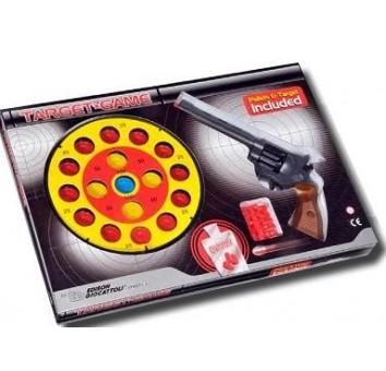 Пистолет TARGET GAME, 8-зарядный с пулями и мишенью - EDISON.