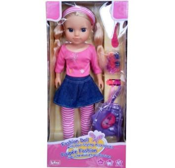 Кукла 40 см с аксессуарами для волос, блондинка