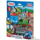 "Mega Bloks. ""Томас"". Паровоз ""Перси"" с вагончиком 10602"