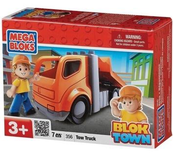 "Mega Bloks ""Город"". Буксировщик с фигуркой. 356"