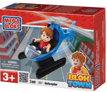 """Mega Bloks """"Город"""". Вертолет с фигуркой. 357"""