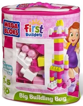 Mega Bloks. Большая строительная сумка (розовая) 8328