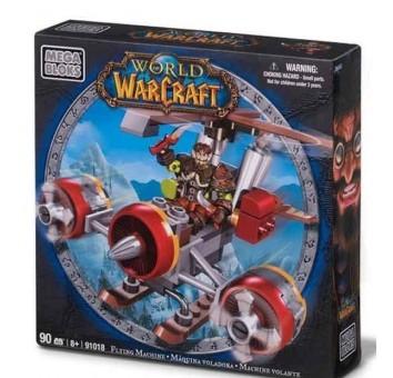 """Mega Bloks """"Вселенная Warcraft-Альянс"""". Набор """"Гном-разбойник на самолете"""". 91018"""