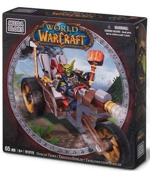 """Mega Bloks """"Вселенная Warcraft-Орда"""". Набор """"Гоблин-воин на машине"""", 91019"""