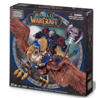 """Mega Bloks. """"Вселенная Warcraft-Альянс"""". Набор """"Рыцарь смерти на грифоне"""", 91021"""