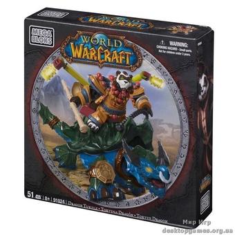 """Mega Bloks """"Вселенная Warcraft-Альянс"""". Набор """"Пандарен на драконе-черепахе"""" 91024"""