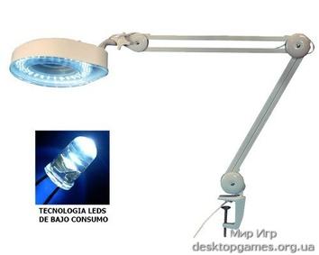 Лупа с LED-подсветкой, 90 диодов