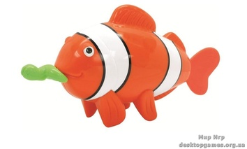 Игрушка для ванной комнаты «Рыбка-клоун с червячком»