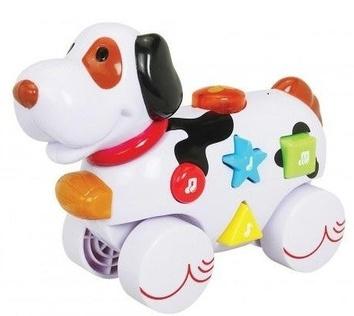 """Музыкальная игрушка со световыми эффектам """"Дружелюбные животные"""", Собачка"""