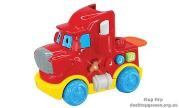 """Машинка со световыми и звуковыми эффектами, """"Красный грузовик"""""""