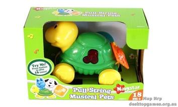 """Музыкальная игрушка со световыми эффектами """"Домашние питомцы"""", Черепашка"""