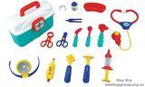 Набор доктора в кейсе со звуковыми и световыми эффектами (16 предметов)
