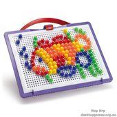 Набор Для занятий мозаикой (10 мм фишки (140 шт.) + доска 22х16, переносной)