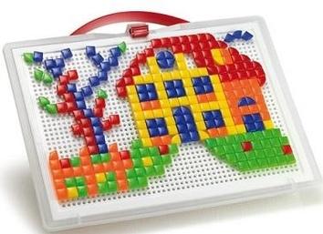 Набор Для занятий мозаикой (квадратные и треугольные фишки (300 шт.)