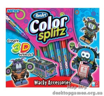 Набор серии Сolor Splitz: фломастеры цветные 5 шт., фигурки 4 шт.