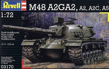 Сборная стендовая модель танка M48A2/A3