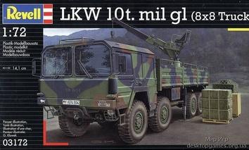 Пластиковая модель грузовика MAN 10t milgl. 8x8 для склеивания