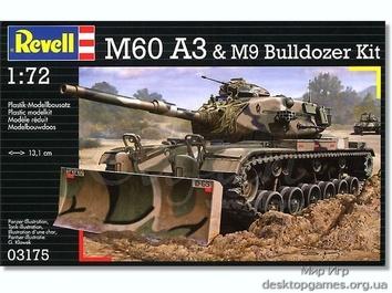Стендовая модель танка M60 для склеивания