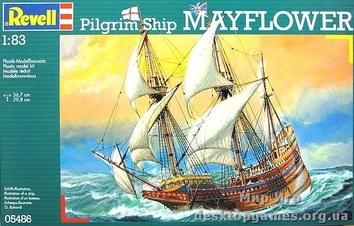 Английское торговое судно-галеон Mayflower