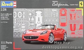 Спорткар Ferrari California (с открытым верхом)