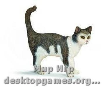 "Игрушка-фигурка ""Серо-белый кот"""