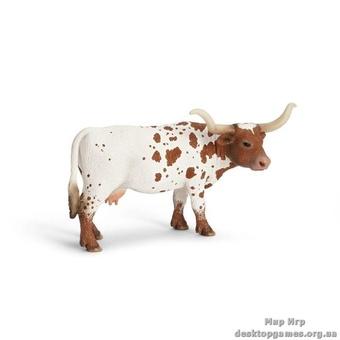 """Игрушка-фигурка """"Техасская корова лонгхорн"""""""