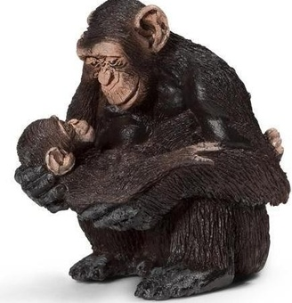 "Игрушка-фигурка ""Самка шимпанзе с детенышем"""
