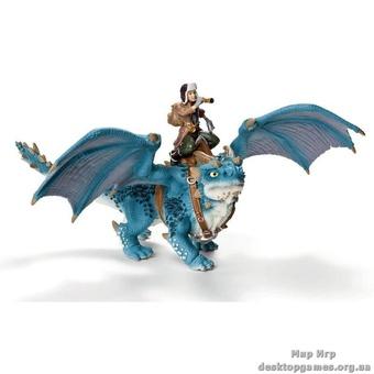 """Игрушка-фигурка """"Шанси на синем драконе"""""""