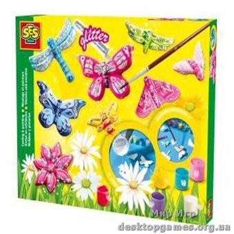 Набор для создания гипсовых фигурок - Сверкающие Бабочки.