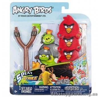 Набор ANGRY BIRDS - РОГАТКА С ЛИПКИМИ ПТИЧКАМИ (3 птички)