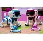 Интерактивный робот-щенок (белый с голубым)