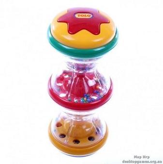 Погремушка развивающая с разноцветными шариками