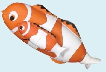 Игрушка для воды «Мама и дитя». Рыба-клоун