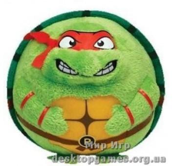 Игрушка мягконабивная Черепашка-ниндзя Рафаэль 12см серии Beanie Ballz
