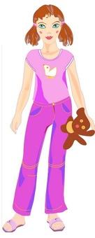 Игровой набор: кукла-наряжайка 'Сестренка'