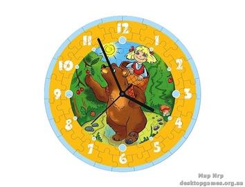 """Пазл – часы """"Маша и медведь"""" 61 эл."""