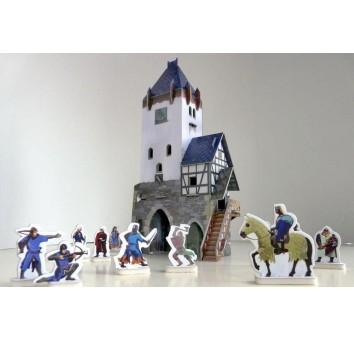 """Сборная модель из картона """"Дозорная башня"""" серии Средневековый город"""