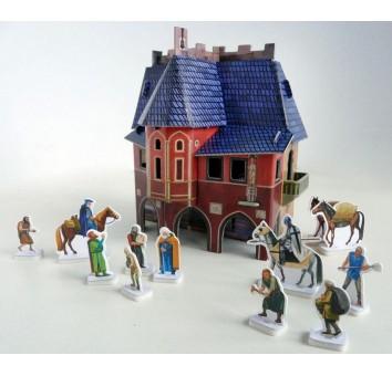 """Сборная модель из картона """"Ратуша"""" серии Средневековый город"""