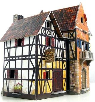 """Сборная модель из картона """"Пекарня"""" серии Средневековый город"""