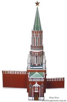 """Сборная модель из картона """"Никольская башня"""""""