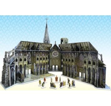 """Сборная модель из картона """"Готический собор"""" серии Средневековый город"""