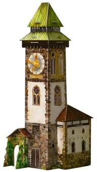 """Сборная модель из картона """"Башня с часами"""""""