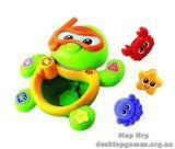Игрушка развивающая для игры в ванной - черепаха (музыка)