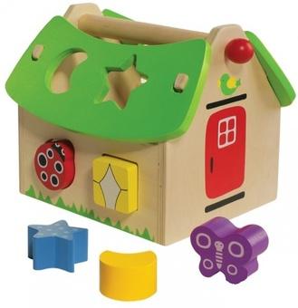"""Деревянная игрушка-сортер """"Летний домик"""""""