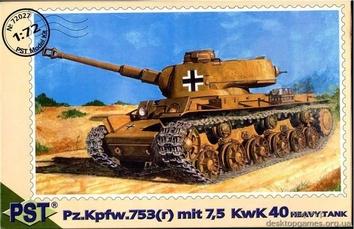 PST72027 Pz.Kpfw.753 (r) mit 7,5 kwK 40 tank