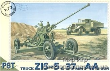 PST72028 ZiS-5 truck with 37mm AA gun
